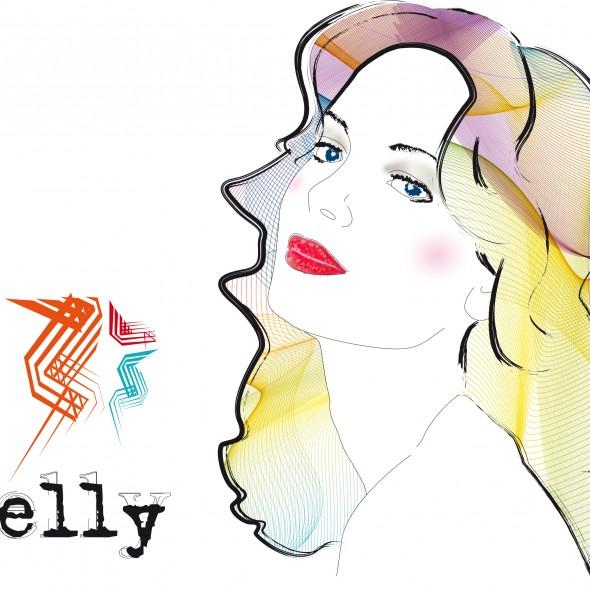 Illustration du portrait de Kelly Garett dans la série télévisée américaine des années 1970 et 1980, Drôles de Dames, Charlie's Angels dans la version originale. L'actrice qui joue le rôle de Kelly est Jaclyn Smith.