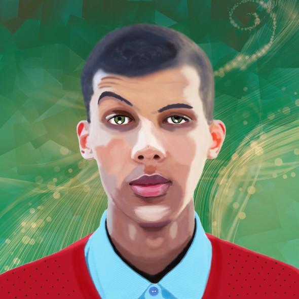 Illustration du portrait du talentueux auteur-compositeur-interprète Stromae