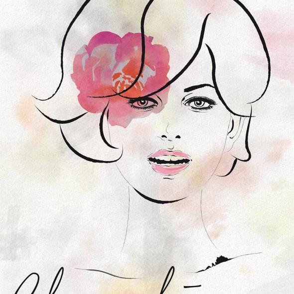 Illustration du portrait de la mythique actrice italienne Claudia Cardinale.
