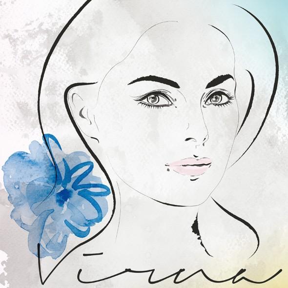 Illustration du portrait de l'actrice italienne Virna Lisi.